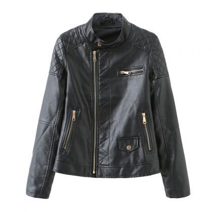 2020 Fall Winter Women Moto Bike PU..