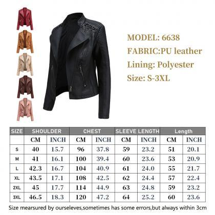 2020 Fall Winter Women Slim PU Jack..