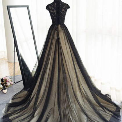 Sexy Sheer Black Long Prom Evening ..