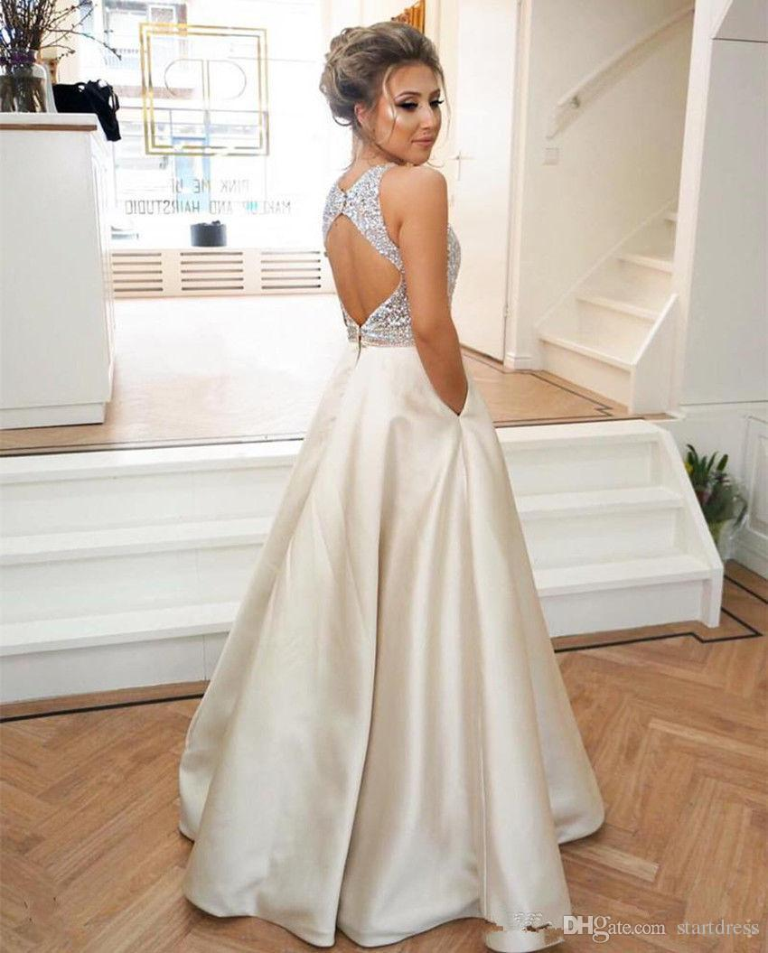 Jewel Top Prom Dresses