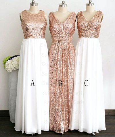 Shiny Sequins Long Bridesmaid Dress Plus Size Wedding Party Dresses Maid Of Honor Gowns
