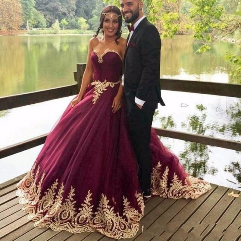 Arabic Princess Ball Gown Evening Dresses, 2017 Purple Prom Dresses ...