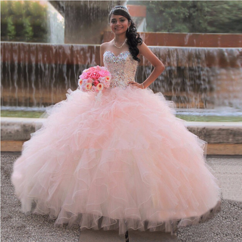 Princess Pink Quinceanera Dress Ball Gown c7647a7d8267