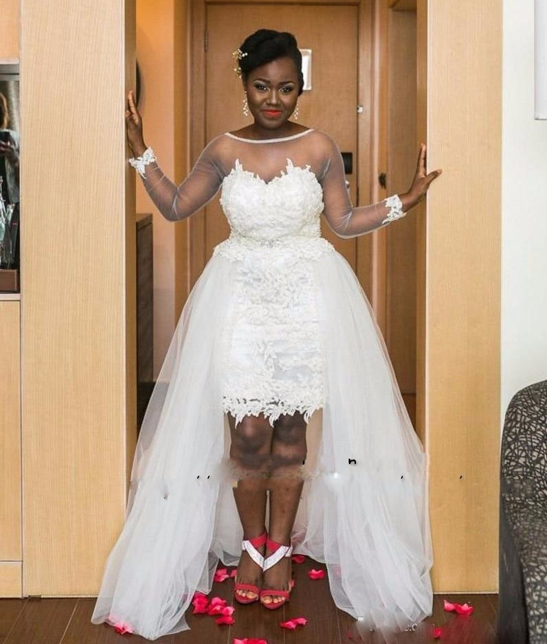 See Through Wedding Gown: Sexy See Through Lace White Wedding Dress Plus Size