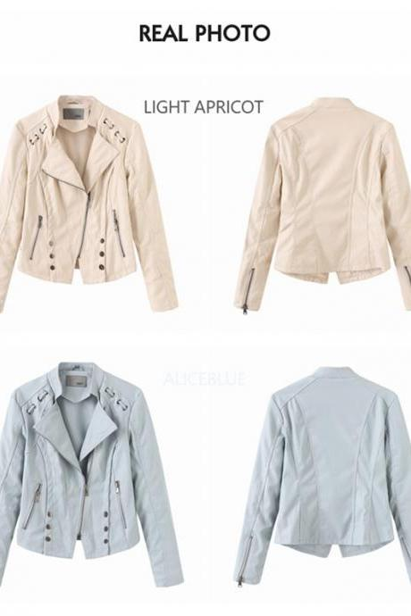 PU Leather Jackets Coats for Women 2020 New Fall Winter Outwear Clothing