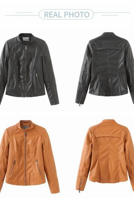 2020 PU Leather Jackets Coats for Women Fall Winter Outwear Clothing